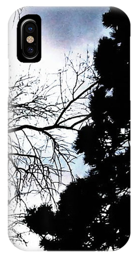 Nature IPhone X Case featuring the photograph Touch Of Surmise by Percival Vince
