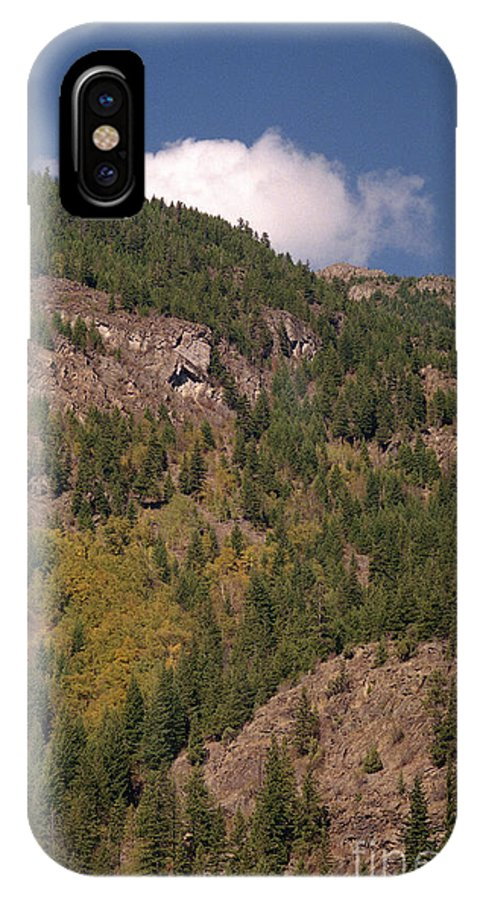 Mountains IPhone X Case featuring the photograph Touching the Clouds by Richard Rizzo