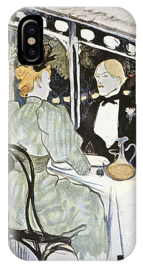 19th Century IPhone X Case featuring the photograph Toulouse-lautrec: Menu by Granger