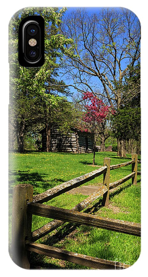 Fence IPhone X / XS Case featuring the photograph Toward The Cabin by Terri Morris