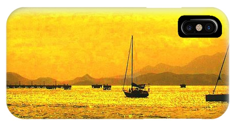 Basseterre IPhone X Case featuring the photograph Towards Nevis by Ian MacDonald
