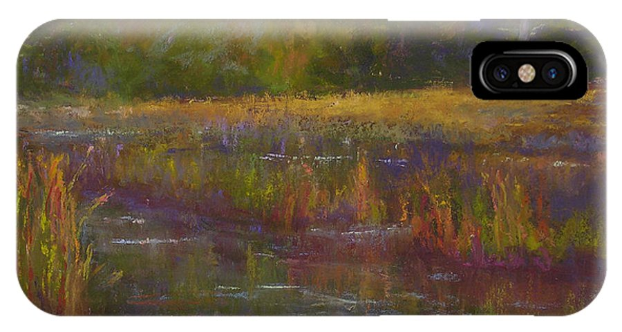 Landscapes IPhone X Case featuring the painting Towards Ticonderoga by Susan Williamson