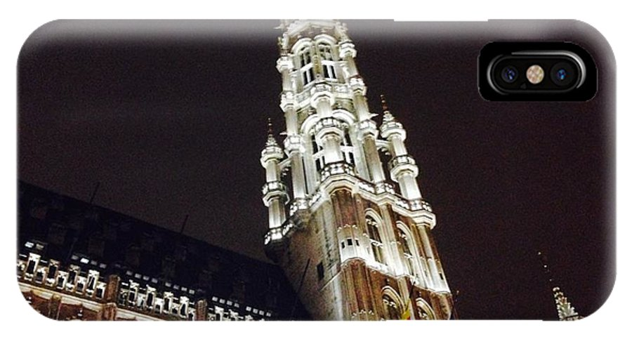 Brussels IPhone X / XS Case featuring the photograph Brussels Tower Light by Jost Houk