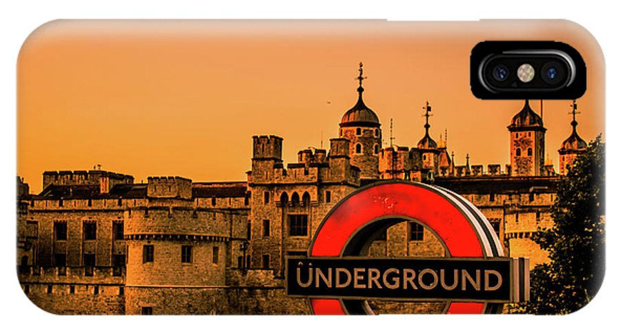 London IPhone X Case featuring the photograph Tower Of London. by Nigel Dudson