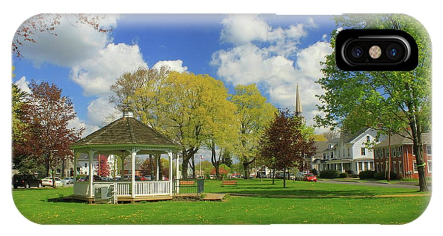 Town Common IPhone X Case featuring the photograph Town Common In Spring Brookfield Massachusetts by John Burk