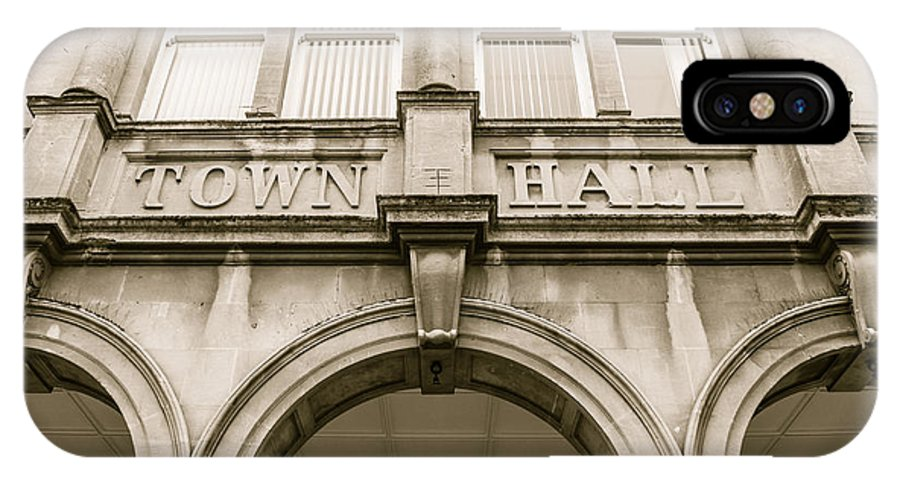 6x4 IPhone X Case featuring the photograph Town Hall, Arch And Windows by Jacek Wojnarowski