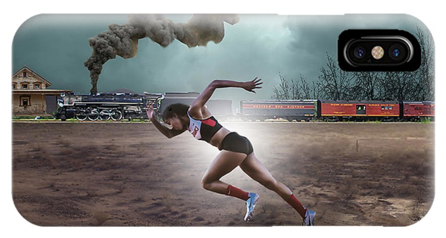 Track And Field IPhone X Case featuring the mixed media Track And Field by Marvin Blaine