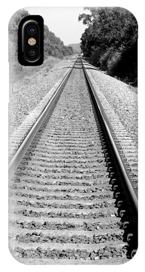 Railroad IPhone X Case featuring the photograph Tracks Through Weston Mo by Carol Sweetwood