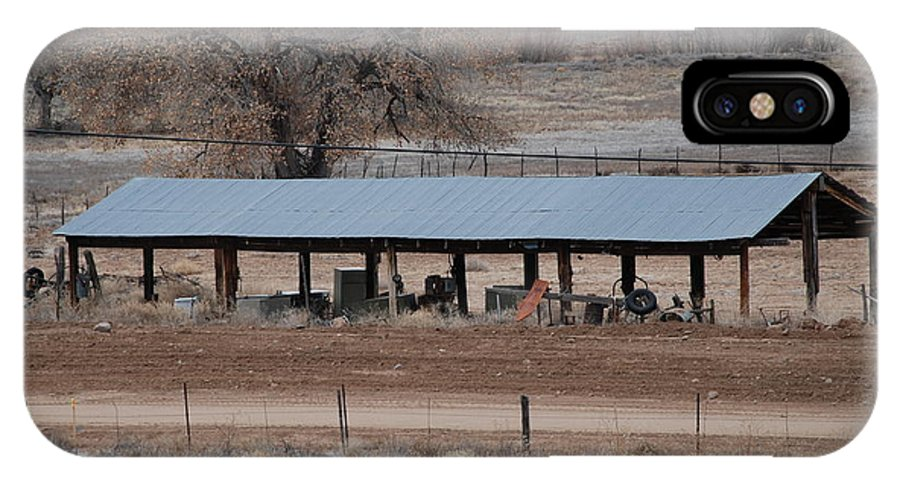 Architecture IPhone Case featuring the photograph Tractor Port On The Ranch by Rob Hans
