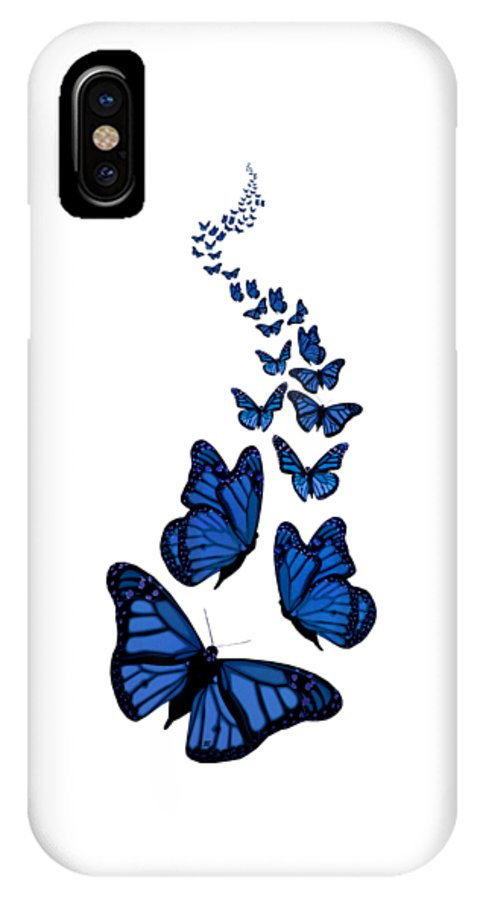 Trail Of The Blue Butterflies Transparent Background Iphone X Case