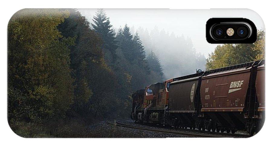 Train IPhone X Case featuring the photograph Train 1 by Sara Stevenson