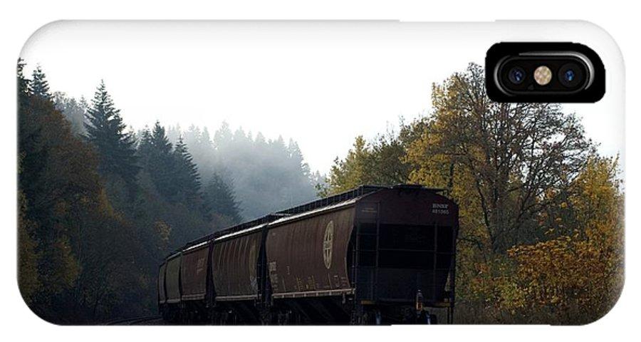 Train IPhone X Case featuring the photograph Train 3 by Sara Stevenson