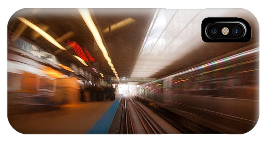 Train IPhone X Case featuring the photograph Train Station In Motion by Sven Brogren