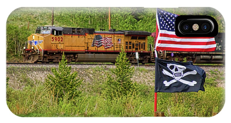 Trains IPhone X Case featuring the photograph Train The Flags by James BO Insogna