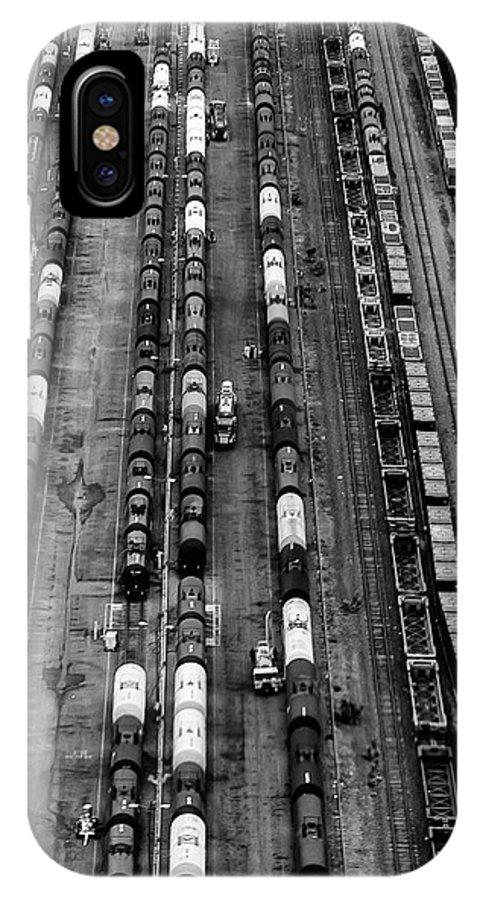 Arthur Kill IPhone X / XS Case featuring the photograph Trainyard by Steven Richman