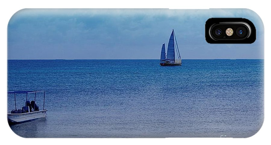 Water IPhone X Case featuring the photograph Tranquil Blue by Debbi Granruth