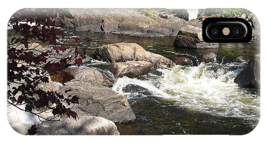 River IPhone X Case featuring the photograph Tranquil Spot by Kelly Mezzapelle