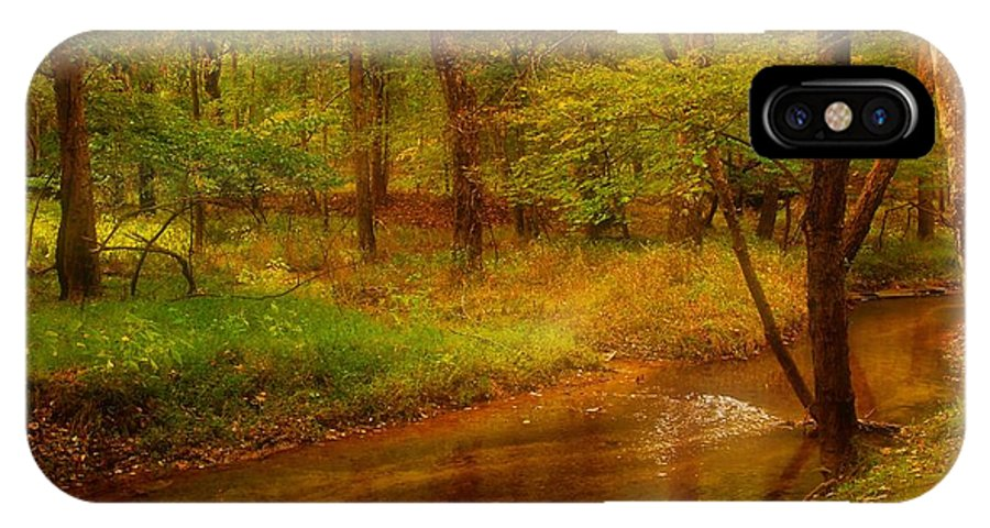 New Jersey IPhone X Case featuring the photograph Tranquility Stream - Allaire State Park by Angie Tirado
