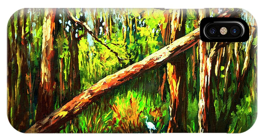 Bayou IPhone X Case featuring the painting Tranquillity by Dianne Parks