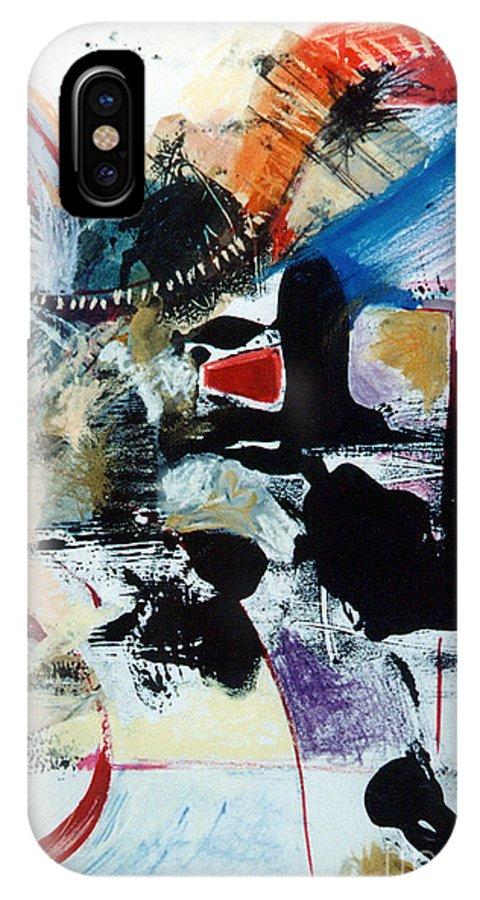 Transcendance IPhone X Case featuring the drawing Transcendance by Kerryn Madsen-Pietsch