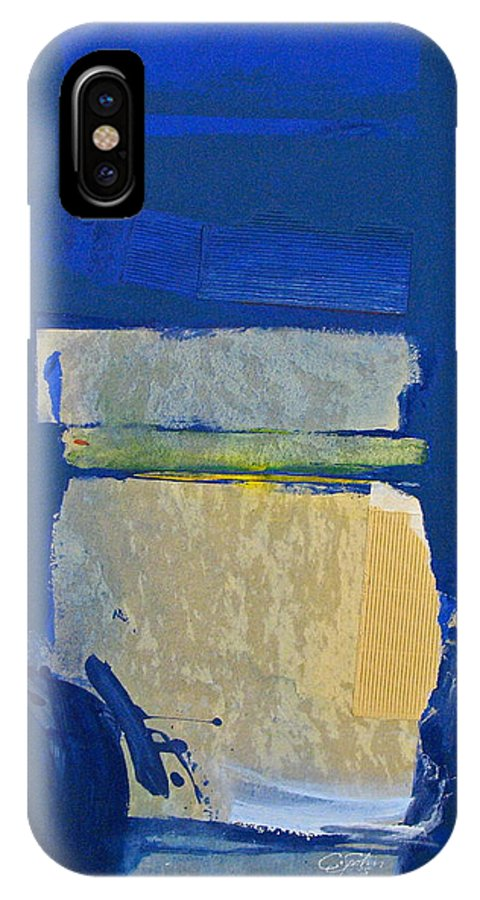 Abstract Paintings IPhone X / XS Case featuring the painting Transition 5 Slabs by Cliff Spohn