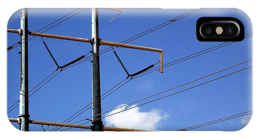 IPhone X Case featuring the photograph Transmission Lines by Iris Posner