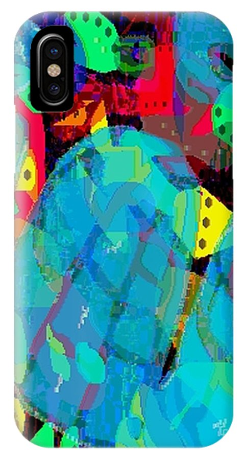 Digital IPhone X Case featuring the digital art Transparencies by Ron Bissett