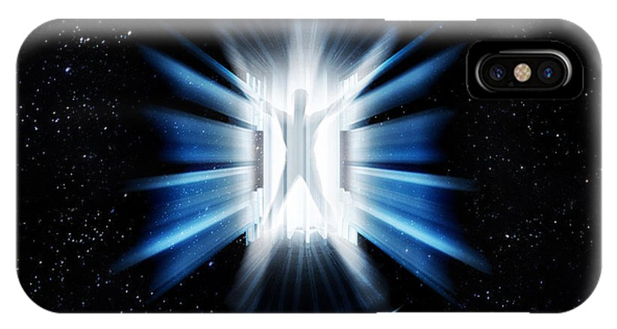 Transporter IPhone X Case featuring the digital art Transporter by Gravityx9 Designs