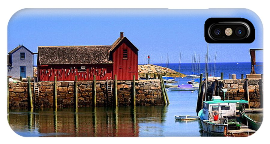 Rockport IPhone X / XS Case featuring the photograph Trap House At Head Of Harbor by John Kenealy