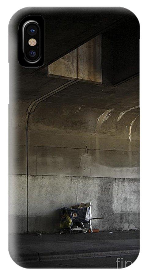 Rural IPhone X Case featuring the photograph Trash Under Bridge. by Viktor Savchenko