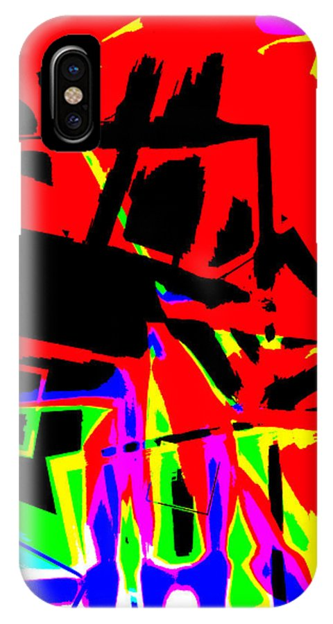 Tractor IPhone X Case featuring the digital art Trator Crash by Lola Connelly