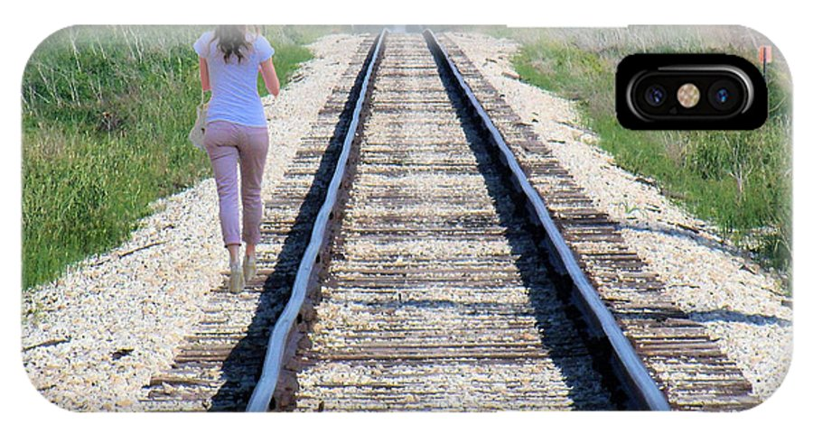Railroad IPhone X Case featuring the photograph Travel With A Purpose by John McCloskey