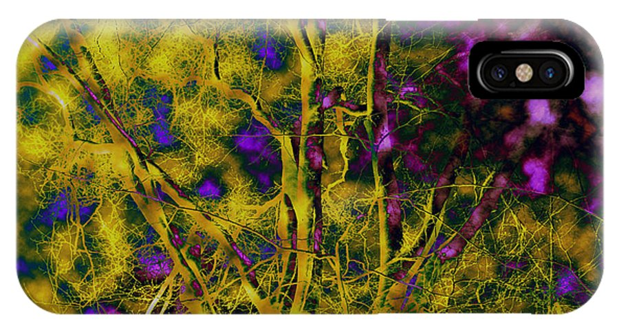 Abstract IPhone Case featuring the photograph Tree Glow by Linda Sannuti