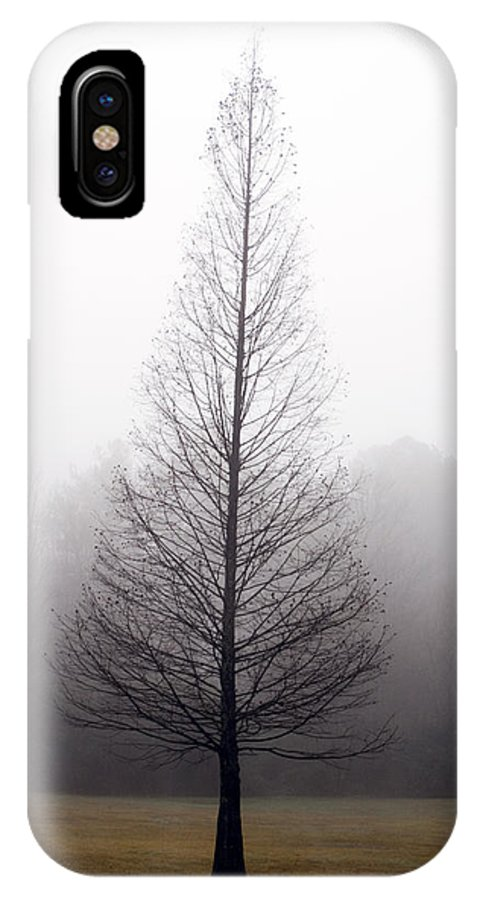 Scenic IPhone Case featuring the photograph Tree In Fog by Ayesha Lakes
