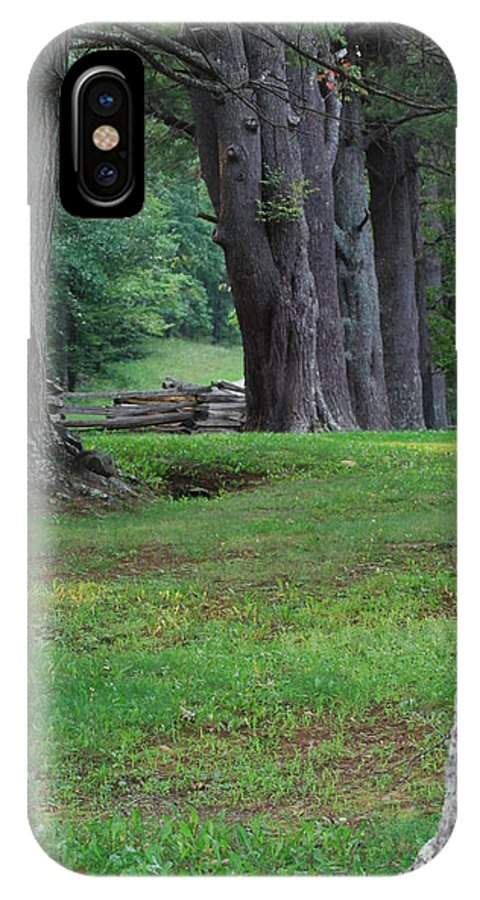 Trees IPhone X Case featuring the photograph Tree Line by Eric Liller