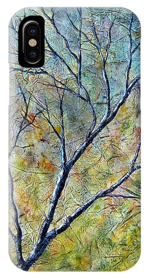 IPhone X Case featuring the painting Tree Number One by Tami Booher