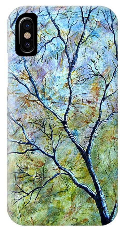 IPhone X Case featuring the painting Tree Number Two by Tami Booher