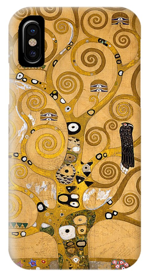 Klimt IPhone X Case featuring the painting Tree Of Life by Gustav Klimt