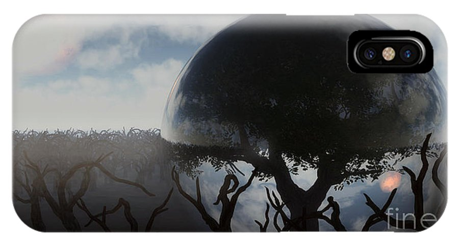 Life IPhone X Case featuring the digital art Tree Of Life by Richard Rizzo
