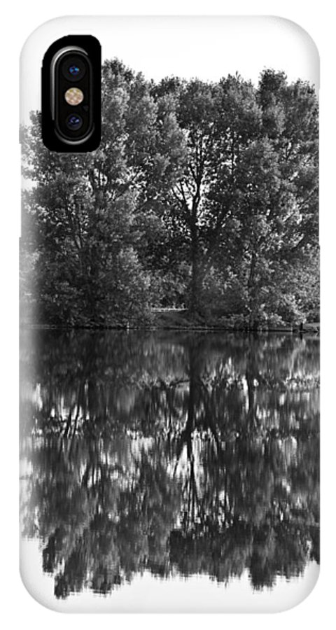 Reflections IPhone X Case featuring the photograph Tree Reflection In Black And White by James BO Insogna