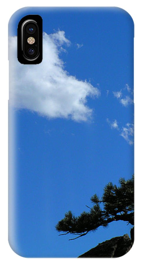 Tree Sky Clouds Colorado Zen Mount Sanitas Mountains Simple Rocky Mountains IPhone X Case featuring the photograph Tree Sky Cloud by George Tuffy