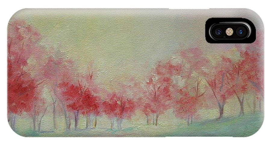 Impressionist Trees IPhone X Case featuring the painting Treeline by Ginger Concepcion