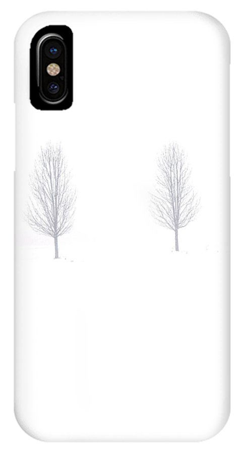 Snow IPhone X Case featuring the photograph Trees And Snow by Daniel Thompson