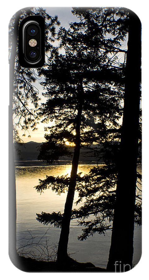 Trees IPhone X Case featuring the photograph Trees by the Lake by Idaho Scenic Images Linda Lantzy