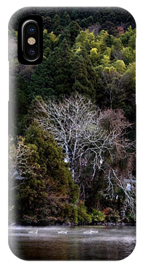 Landscape IPhone X Case featuring the photograph Trees In Japan 2 by George Cabig