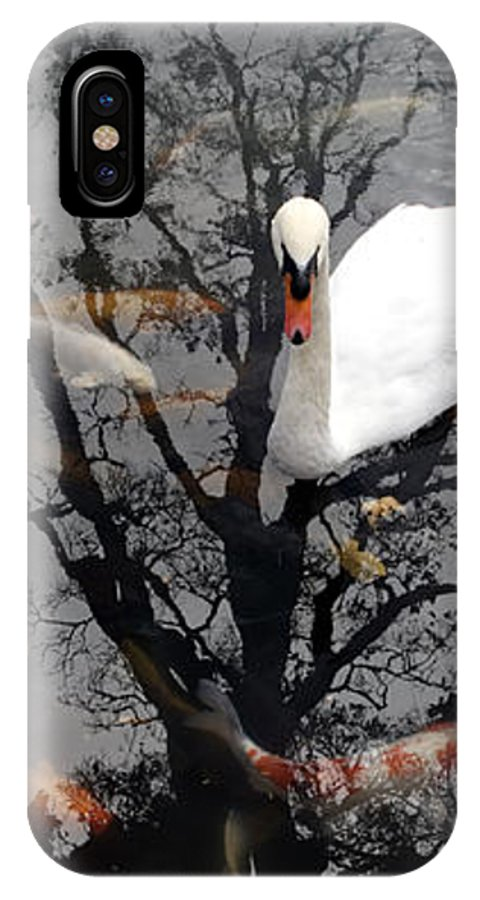 Water IPhone X / XS Case featuring the photograph Trees In Japan 7 by George Cabig