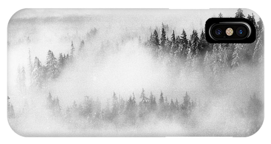 Abstract IPhone X Case featuring the photograph Trees In The Clouds by Lyle Crump