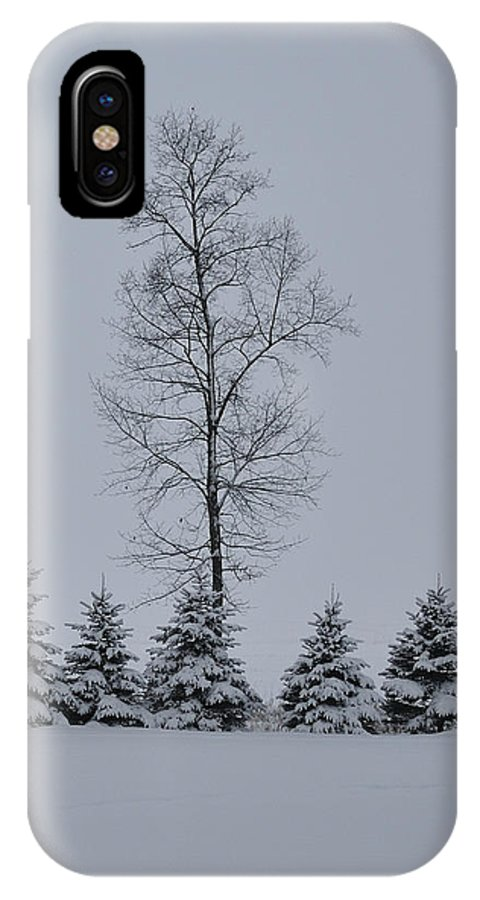 Trees IPhone X Case featuring the photograph Trees In The Snow by David Arment