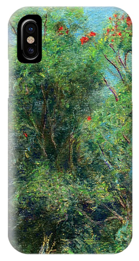 Rainbow Colors Pastel IPhone Case featuring the painting Trees Of Kokee by Kenneth Grzesik