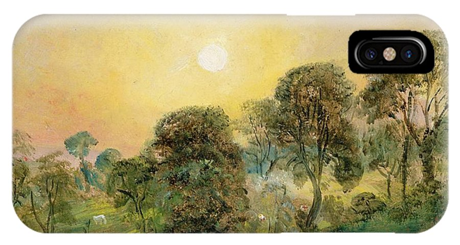 Trees IPhone X Case featuring the painting Trees On Hampstead Heath At Sunset by John Constable